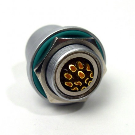 12-way Receptacle with sockets - hermetic connector