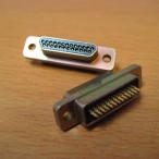 25-way Microminiature-D Plug with pins - for cryogenic use