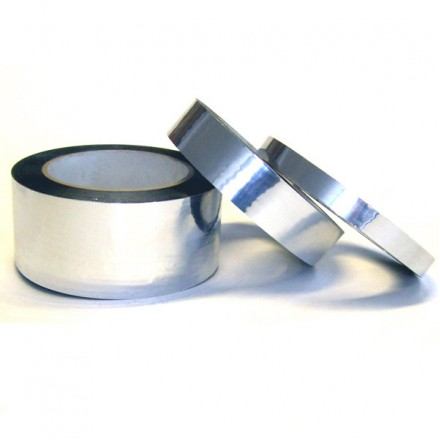Metalised polyester (mylar) adhesive tape - 12mm wide (100m long)