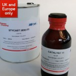 Stycast 2850 FT Black Epoxy - with catalyst 11 (1Kg Kit)