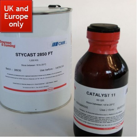 Stycast 2850 FT Black Epoxy - with catalyst 11
