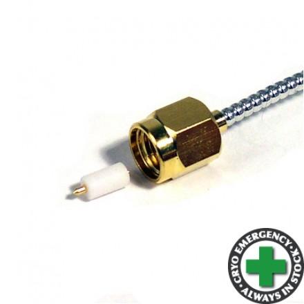 SMA Plug - cryogenic coax and RG-405 compatible