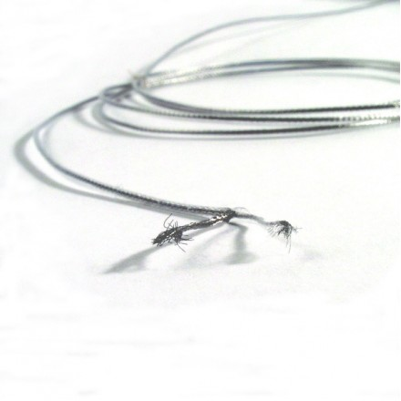 Miniature braided stainless steel coax - 1mm OD